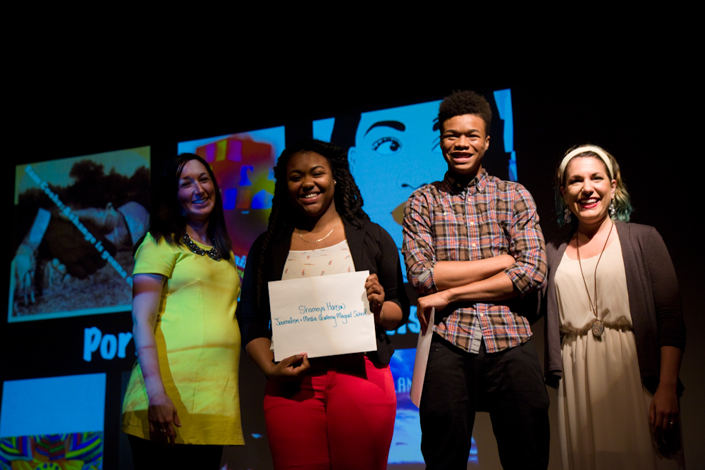 2015 scholarship recipients - Shamoya Hanson and Joseph Pouncey